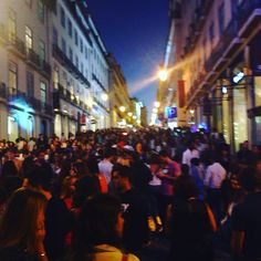 "Photo of Lisbon by night in ""Vogue Fashion night out 2015"" 10 of September 2015❤️"