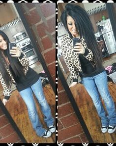 Leopard jacket+ hair