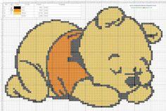 Dibujos Punto de Cruz Gratis: Winnie Pooh bebe Baby  - Cross Stitch Punto de cru...