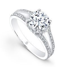 www.lorelletcie.com  Call today to order 6192968900 #EngagementRing by: #BeverlyK Style: R9202(A)-D,D,M SPLIT SHANK