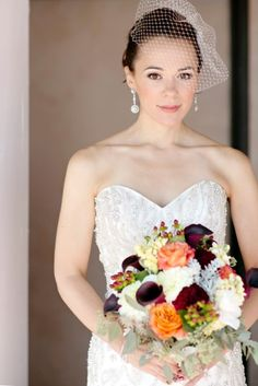 Fall bridal bouquet with callas, dahlias, hydrangeas etc