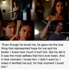 Elena admits  she loved Damon at that moment <3 TVD