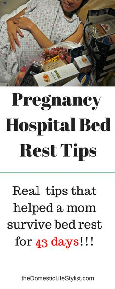 Real life tips gathered from a mom that spent 43 days on strict pregnancy hospital bed rest. She offers real advice on how to handle it like a pro. Pregnancy Checklist, Hospital Bag Checklist, Pregnancy Advice, High Risk Pregnancy Quotes, Bed Rest Pregnancy, Baby Pregnancy, Rest Quotes, Hospital Bed, How To Stay Healthy