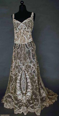 Point De Gaz Evening Gown, Worn In 1933, Augusta Auctions, November 13, 2013 - NYC, Lot 55