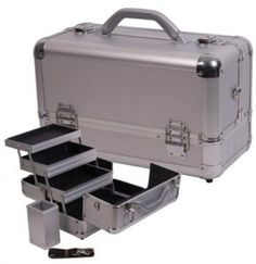Makeup Case #7916 - Seriously stylish and convenient, our aluminum train case can house the entire line of Arbonne Cosmetics, enabling you to take your full-size set anywhere your business leads you. Multitiered trays allow easy access and full visibility, so you stay beautifully organized, polished and professional ----- http://AndreaHawkinson.arbonne.com/