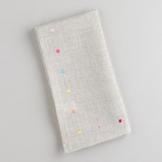 Multicolored Embroidered Dot Napkins at Cost Plus World Market >> #WorldMarket Easter Style Hunt Sweepstakes. Enter to win a 1K World Market gift card.