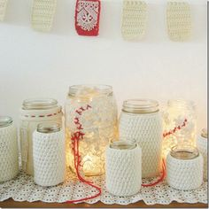 Recycled Sweater Mason Jar Sleeves
