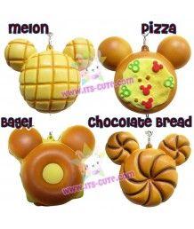 Disney Mickey Mouse Bread Squishy Cellphone Strap!