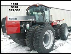 1998 CASE IH STEIGER 9350 FWD, any one got enough money to buy this beast?? Case Ih Tractors, Big Tractors, Case Company, International Harvester, Car Brands, Heavy Equipment, Farming, Beast, Vehicle