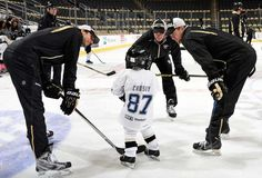 """Crosby and Teammates Surprise """"Little Penguins"""" - 02/18/2015 - Pittsburgh Penguins - Photos"""