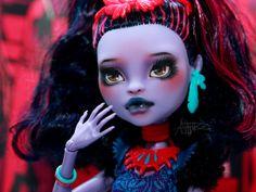 Monster High repaint Monster High custom Jane by AshGUTZ on Etsy