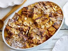 Panettone French Toast Casserole : Finally, a delicious use for the ubiquitous holiday cake that everyone loves to give but no one seems to eat. Panettone's raisins, citron and pine nuts make this rich, custardy breakfast just right for special occasions.