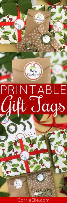 Printable Christmas Gift Tags (these tags work with Avery labels, so no need to cut them out!)