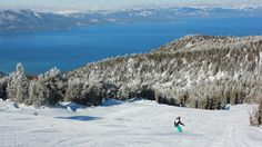 Gorgeous view of Lake Tahoe from Cal trail at Heavenly Mountain.    www.skiheavenly.com