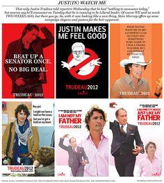 Satirical campaign posters & slogans for Justin Trudeau's Liberal leadership bid | #cdnpoli