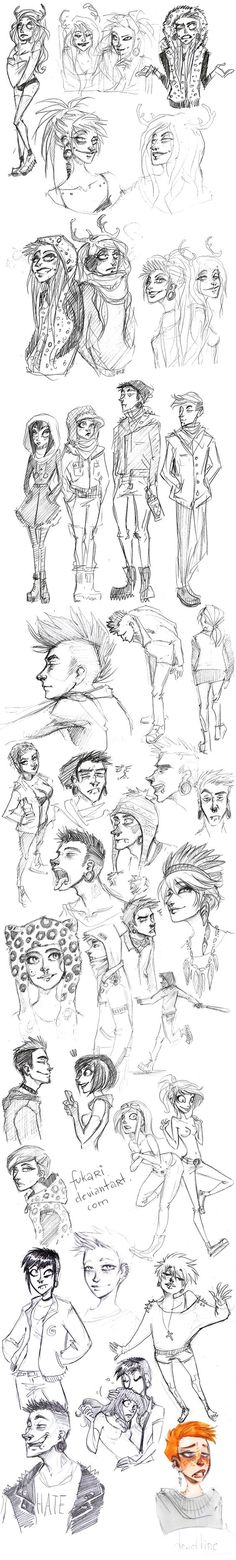 rought sketch dump by *Fukari on Wookmark Character Design References, Character Art, Character Illustration, Illustration Art, Character Design Inspiration, Illustrations, Art Tutorials, Cool Drawings, Art Inspo