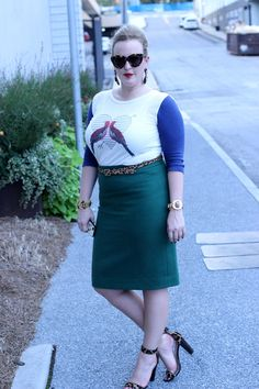 JCrew Pitching Sleeves and Pencil Skirt