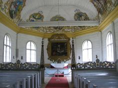 The altar of the Paltaniemi church in Kainuu, Finland. Finished in 1726. | http://fi.wikipedia.org/wiki/Paltaniemi