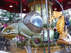 Jules Verne themed carousel in Nantes, France.