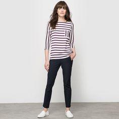 Marynarska bluzka z rękawem ¾ - LAURA CLEMENT LAURA CLEMENT