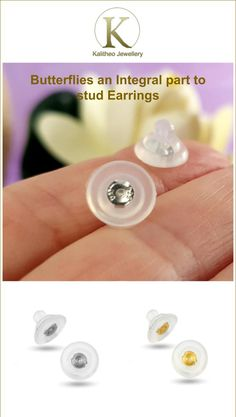#jewellery #studearrings #butterfies Butterflies are also known as Ear Back or Ear Nuts. They are an integral part of stud earrings as they hold your earrings in place. They also provide a balance to your earrings. Larger discs on butterfly backs support heavier earrings to sit straight.  Visit our Jewellery Supply Section for more quality jewellery findings.