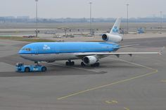 """DSC_0517 - McDonnell Douglas MD-11P, PH-KCD, """"Florence Nightingale"""", KLM, Amsterdam Schiphol, 20th March 2013. National Airlines, Florence Nightingale, March 2013, Airplanes, Amsterdam, Ph, Wings, Florance Nightingale, Planes"""
