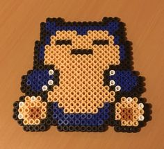 Snorlax for me Pokemon Snorlax, Crochet Pokemon, Hama Beads Design, Hama Beads Patterns, Pearler Beads, Crochet Necklace, Awesome, Projects, Baby