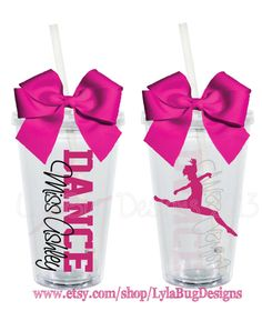 Dance Teacher Dance Mom 16oz Personalized by LylaBugDesigns, $15.00