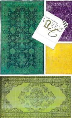 the HUNTED INTERIOR: I LOVE IT: 9 Overdyed Rugs! Plus one with a great price!!!