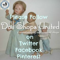 TWITTER -https://twitter.com/Dollshopsunited  FACEBOOK -  https://www.facebook.com/dollshopsunited PINTEREST -  https://www.pinterest.com/dollshopsunited/  #dollshopsunited