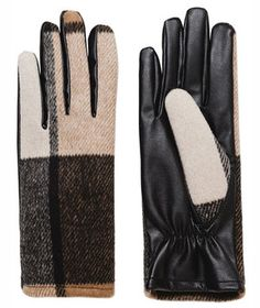 Cozy and chic, these gloves are an unbeatably warm combo of leather and wool. Wear the exaggerated pattern with a classic trench coat for a quick outerwear update.