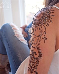 summer cute mandala tattoo