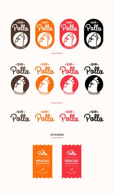 SIR POLLO by AARON MARTINEZ, via Behance Food Logo Design, Logo Food, Identity Design, Food Brand Logos, Chicken Logo, Typographie Logo, Food Branding, Typo Logo, Brand Packaging