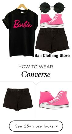 """barbie shirt.."" by j-n-a on Polyvore featuring J Brand and Converse"