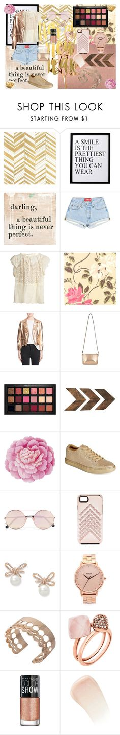 """""""Rose Gold~"""" by sconesareawesome-iggybrows ❤ liked on Polyvore featuring Home Decorators Collection, 3R Studios, Sugarboo Designs, STELLA McCARTNEY, Veda, Miss Selfridge, Huda Beauty, WALL, Ballard Designs and Kenneth Cole Reaction"""