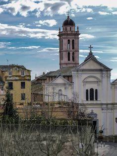 Corsica - Bastia - Corse -  Santa Maria vue de la place d'armes