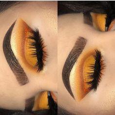 ideas hair brown orange make up Kiss Makeup, Cute Makeup, Pretty Makeup, Beauty Makeup, Hair Makeup, Makeup List, Makeup Goals, Makeup Inspo, Orange Eye Makeup
