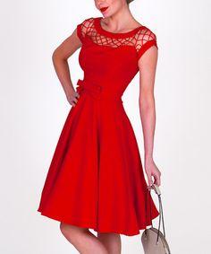Loving this Red Alika Circle Dress - Women & Plus on #zulily! #zulilyfinds