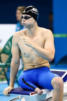 Jesse Reynolds of New Zealand prepares to compete in the Men's 400m Freestyle S9 heat on day 2 of the Rio 2016 Paralympic Games at Olympic Aquatics Centre on September 9, 2016 in Rio de Janeiro, Brazil.