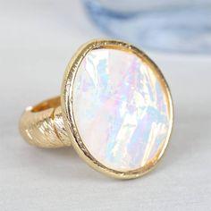 Moonstone Gold Ring from notonthehighstreet.com