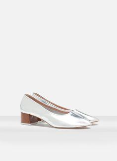 Zapato tacón madera - NUEVO EN TIENDA - Uterqüe España