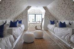 Rosemary Beach Show House, via Dixie delights--- love the kids dormitory style for a beach house...so nostalgic!