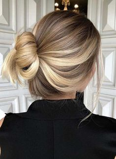 32 Pretty Balayage Ombre Bun Haircut Styles in 2018