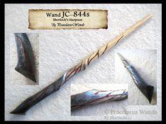 JC-844s - Bloody Harpoon!Sherlock wand by PraeclarusWands.deviantart.com on @deviantART