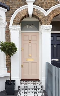 Front Doors : Home Door Ideas Front Door Front View Of A Victorian Terrace House.Front Doors : Home Door Ideas Front Door Front View Of A Victorian Terrace House.door doors front home house ideas Bespoke Terrace House Exterior, Victorian Terrace House, Victorian Homes, Victorian House London, Victorian House Numbers, Victorian House Interiors, London House, Front Door Entrance, House Front Door
