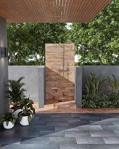 Outdoor Gallery   Floor & Decor Outdoor Tiles Floor, Outdoor Pool Shower, Tile Floor, Outdoor Bathrooms, Stone Walkway, Wood Look Tile, Outdoor Living, Outdoor Decor, Back Patio