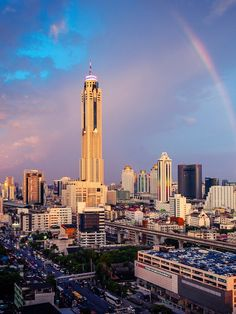 Baiyoke Tower II, Bangkokview from my hotel looked something like this