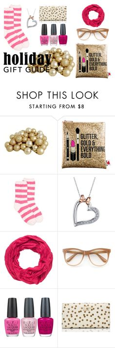 """""""Gifties for the Bestie"""" by danieswims on Polyvore featuring Sephora Collection, New Directions, Disney, maurices, Wildfox, OPI and Kate Spade"""
