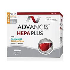 Advancis Hepa Plus é um suplemento alimentar, em ampolas, com ação antioxidante e proteção hepática, indicado em casos de consumo excessivo de álcool e outras intoxicações hepáticas, num regime de emagrecimento e na prevenção de problemas de tracto biliar e de digestão, pois proporciona um funcionamento adequado do fígado.