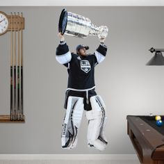 Jonathan Quick Stanley Cup REAL.BIG. Fathead Wall Graphic